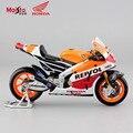 1:18 escala niños mini collectible honda repsol vn 2014 carrera de moto diecast metal motocicleta juguetes de colección de coches para los niños