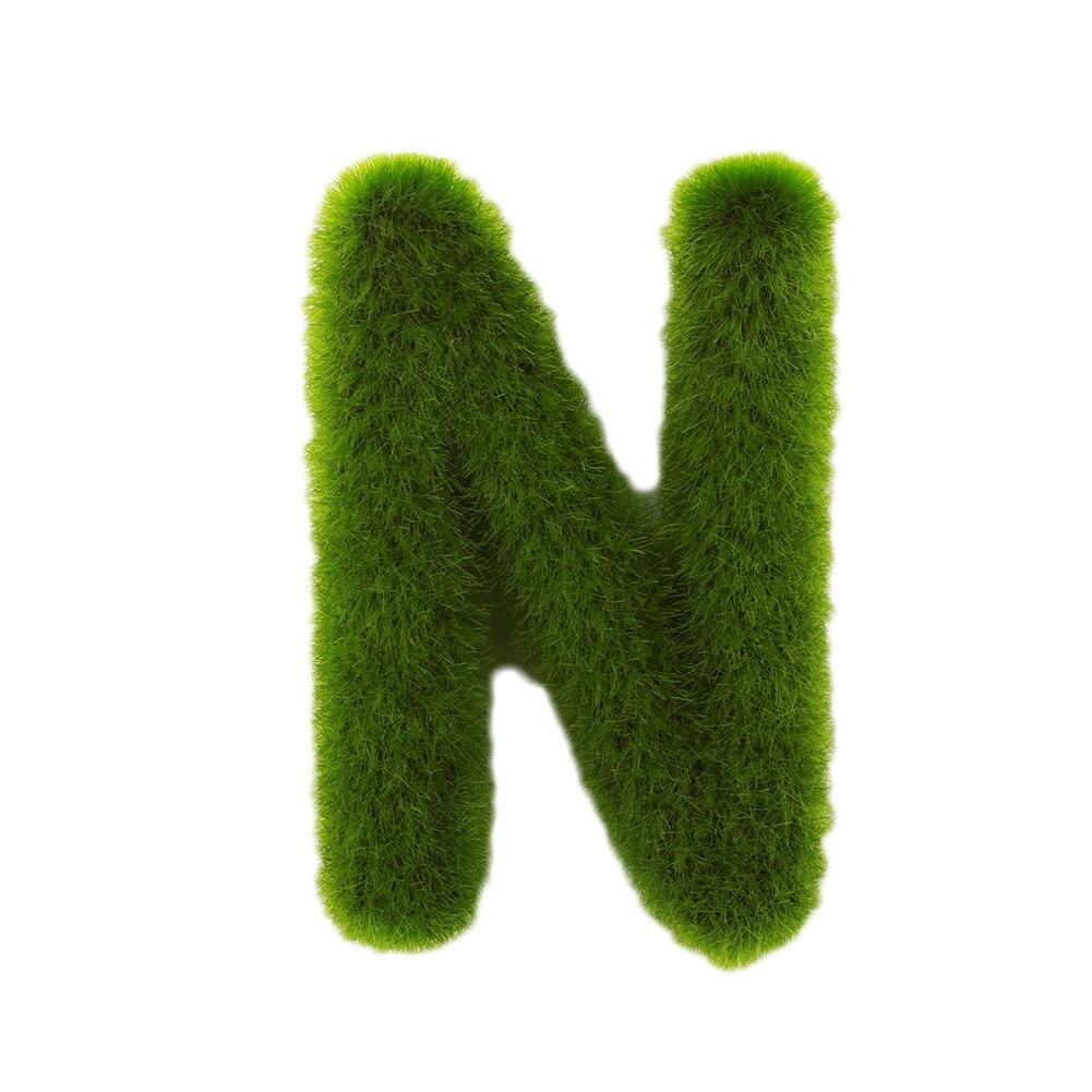 Буквенные предметы интерьера искусственный газон письмо искусственный газон украшение 26 слов ремесленный дом окно креативный - Цвет: N
