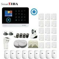 SmartYIBA 3G WIFI Alarm System Kits Wireless Alarm System Security Home with Outdoor Solar Pet PIR Sensor App Control SMS GPRS