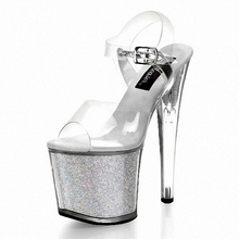 Shiny Rhinestones 20CM Super Sexy High Heeled Platform font b party b font Pole Dance Performance