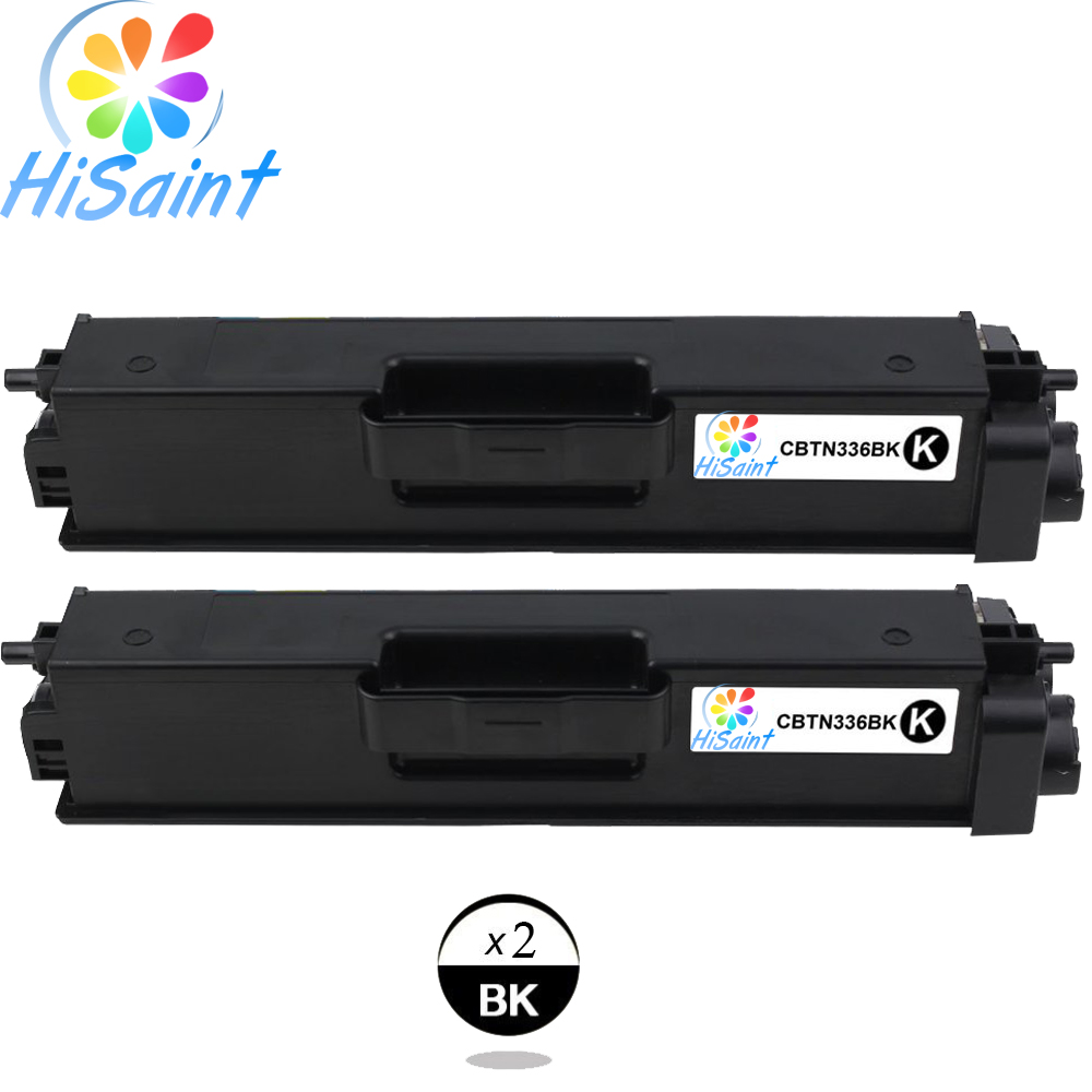 Hisaint Listing Hot Best Compatible Toner Cartridge Replacement For Brother TN336 TN336BK TN-336BK TN 336BK (Black, 2-Pack)
