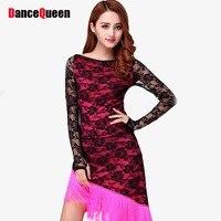 2016 Latin Dance Dress Women 2pcs Top Skirt Vestido De Baile Latino Enfeites Para Quarto Fitness