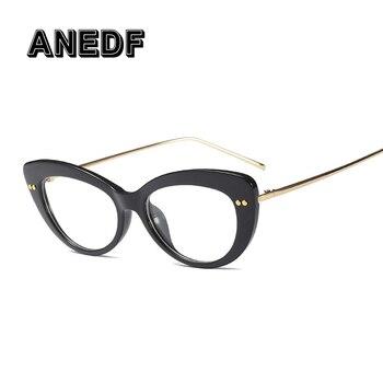 84f881620e ANEDF 2018 gafas De ojo De gato montura mujeres estilos De moda marca  óptica gafas De ordenador Oculos De Grau accesorios De gafas