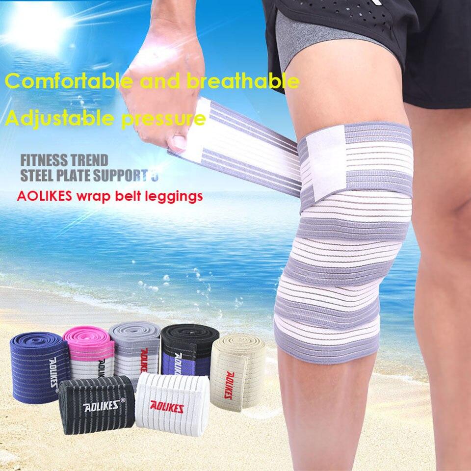 AOLIKES 1PCS Bandagem Elastica Knee Protector Sport Tape Kinesiologic Elastic Band joelheira vendas para deporte A-1516