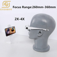 New 2X/4X and 1.5X/3.8X Bracket TV Television Magnifying Glasses Headband Magnifier Loupe Goggles with Phone Holder Glasses Case