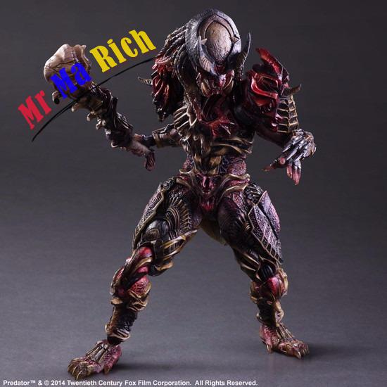 28cm Predator Series Predator Anniversary Jungle Hunter Enhanced version action figure toys doll Christmas gift predator