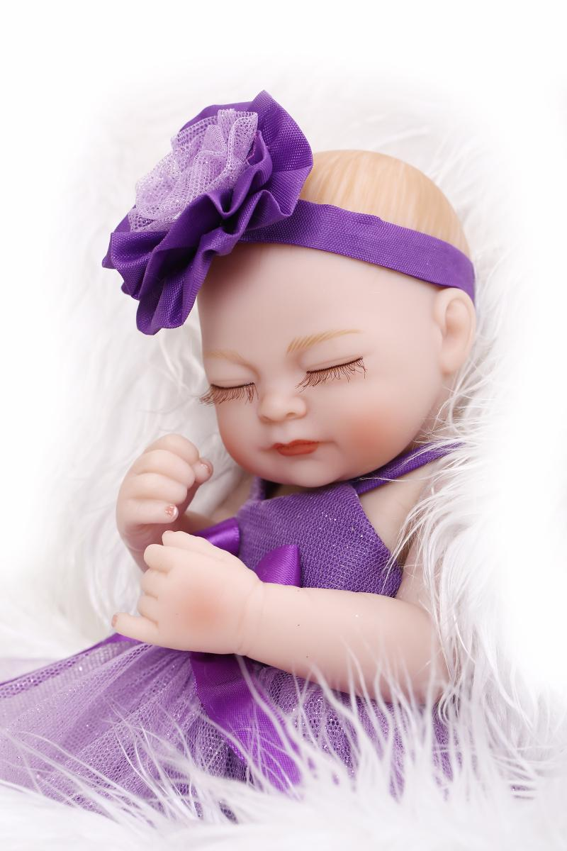 Silicone Reborn Baby Dolls Toy For Girls Newborn Bibies Collectable