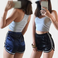 5 Colors New High Waist Elastic Shorts Women Casual Pantalones Cortos Mujer 2017 Solid Hotpants Ladies