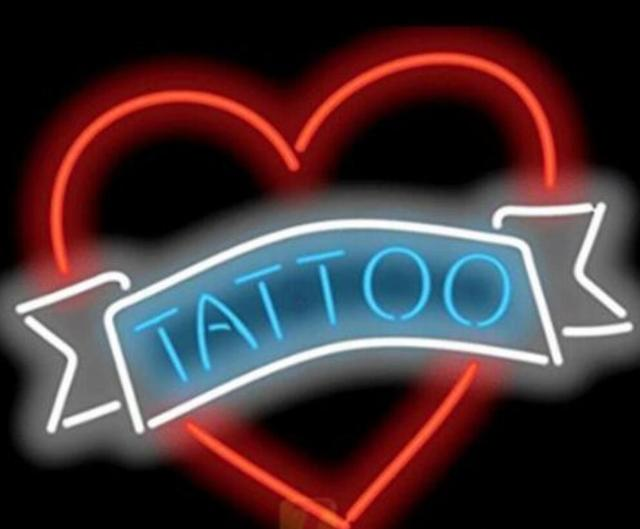 Custom Tattoo Garage Glass Neon Light Sign Beer Bar