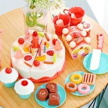 ASSOT 37-83 pcs DIY Plastic Food Toy Cutting Fruit Vegetable Food Pretend Play Children For Children Kitchen Toys Tableware цена
