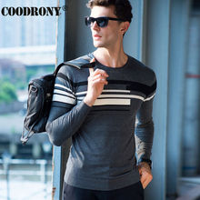 High Quality Knitted Merino Wool Sweater Men Brand Clothing Casual Striped O-Neck Sweaters Soft Warm Cashmere Pullover Male 6317