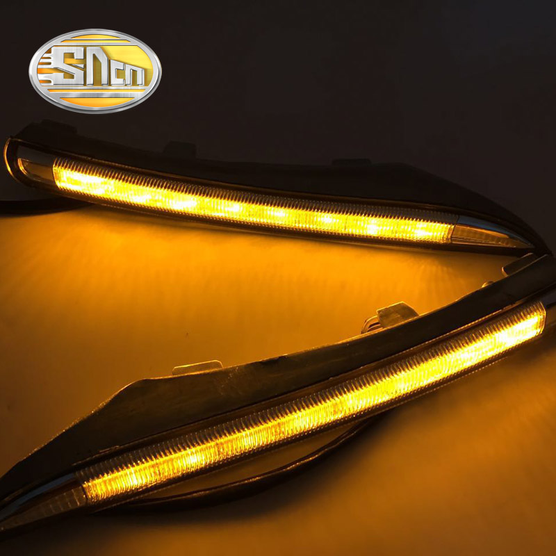цена на SNCN With Yellow Turning Function Car Accessories LED Daytime Running Light LED DRL For Renault Koleos 2011 2012 2013 2014
