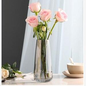 Image 2 - אירופה זכוכית פרח אגרטל הבית מודרני קישוט שולחן אגרטל לחתונה אביזרי קישוט