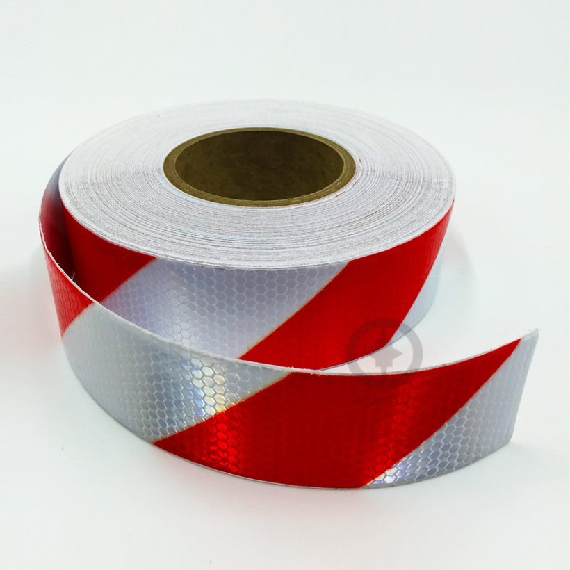 5 cm x 50 m reflecterende tape zelfklevende rood-witte stralende - Accessoires voor auto-exterieur - Foto 6