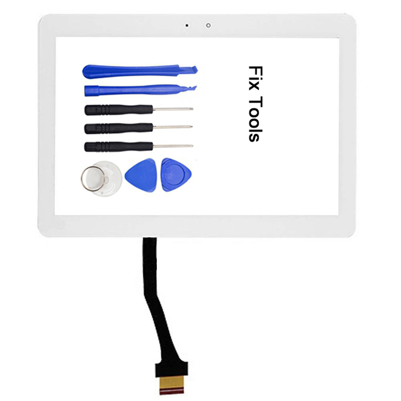 1Pcs For Samsung Galaxy Tab 2 10.1 GT-P5113 P5100 P5110 i915 T779 i497 P500 Touch Screen Digitizer Outer Panel+Tools стоимость