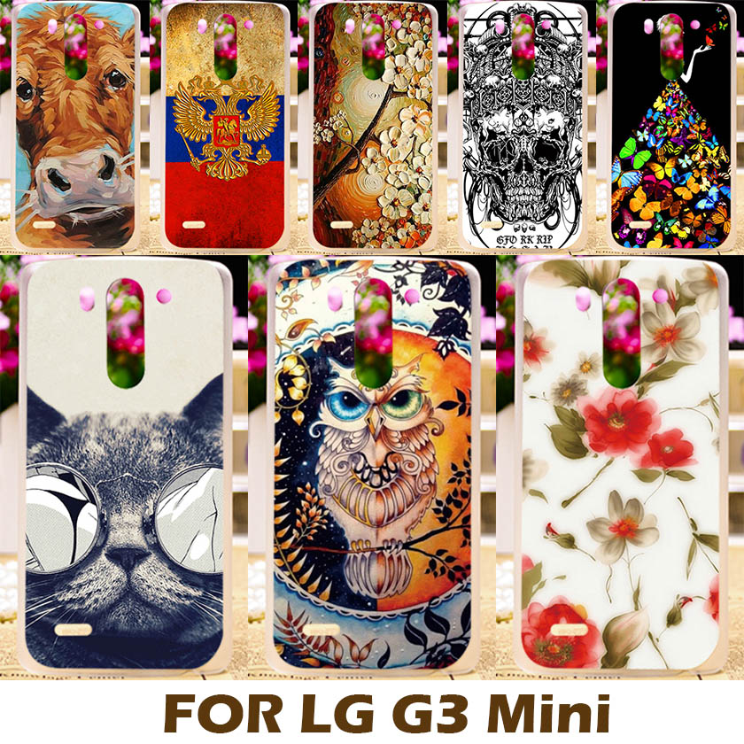 AKABEILA DIY Painting design Hard Plastic Cases For LG G3S Case Optimus S G3 Mini G3 Beat D728 Phone Cover Protective Shell