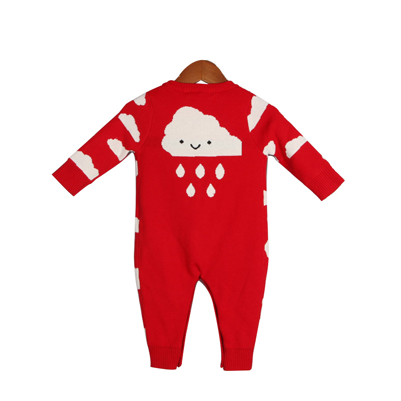 Warm Crochet Baby Romper Cotton Baby Cloud Romper For Boy Infant Toddler Girl Jumpsuit Autumn Winter Long Sleeve Knitted Romper new famous brand fashion casual women watches roman numerals quartz watch women stainless steel dress watches relogio feminino