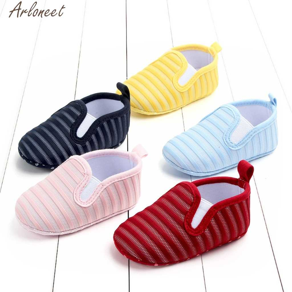 ARLONEE Newborn Girls Boys Shoes Candy Color Striped Mesh First Walkers baby girl shoes baby shoes boy 1 year baby shoe