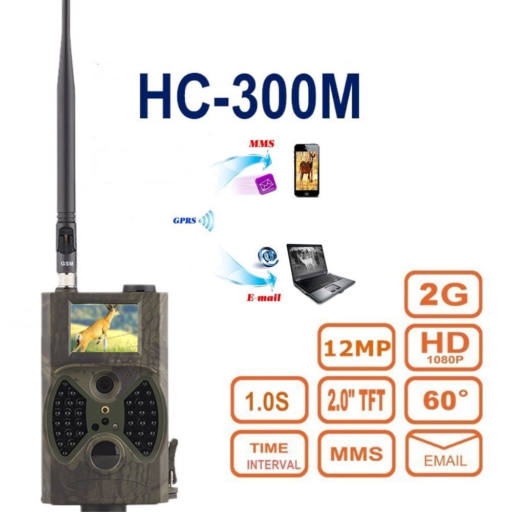 12MP 1080P Wireless GSM MMS SMS Controlled Night Vision No Glow Hunting Video Camera HC-300M 16 ports 3g sms modem bulk sms sending 3g modem pool sim5360 new module bulk sms sending device