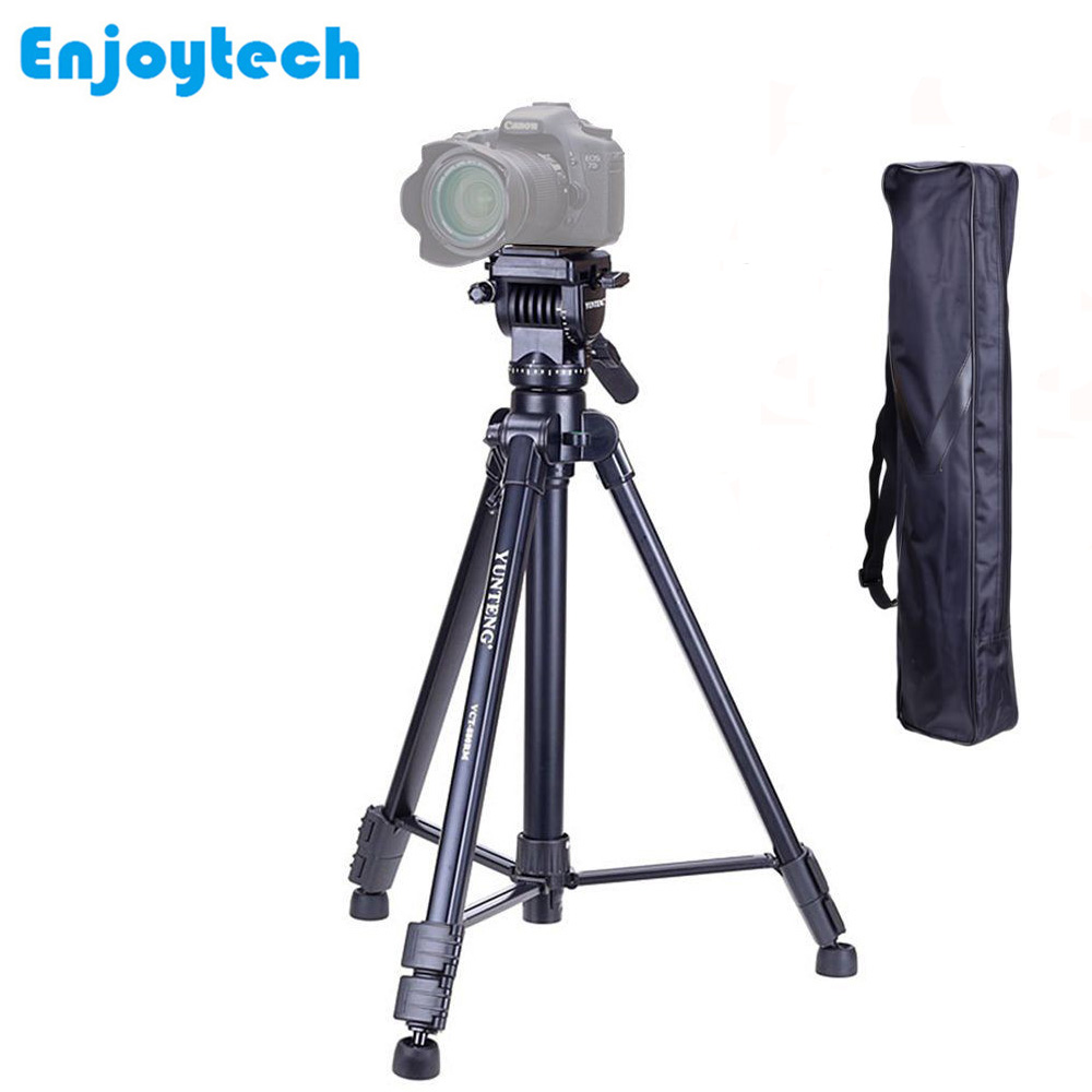 New 880 Professional Tripod for Nikon/Canon/Sony/DSLR/SLR Cameras Portable Tripod with Fluid Head Gimbal for Photography
