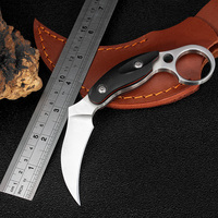 KKWOLF G10 Handle Hunting Karambit Knife CS GO 7CR17MOV Never Fade Counter Strike Fighting Survival Tactical