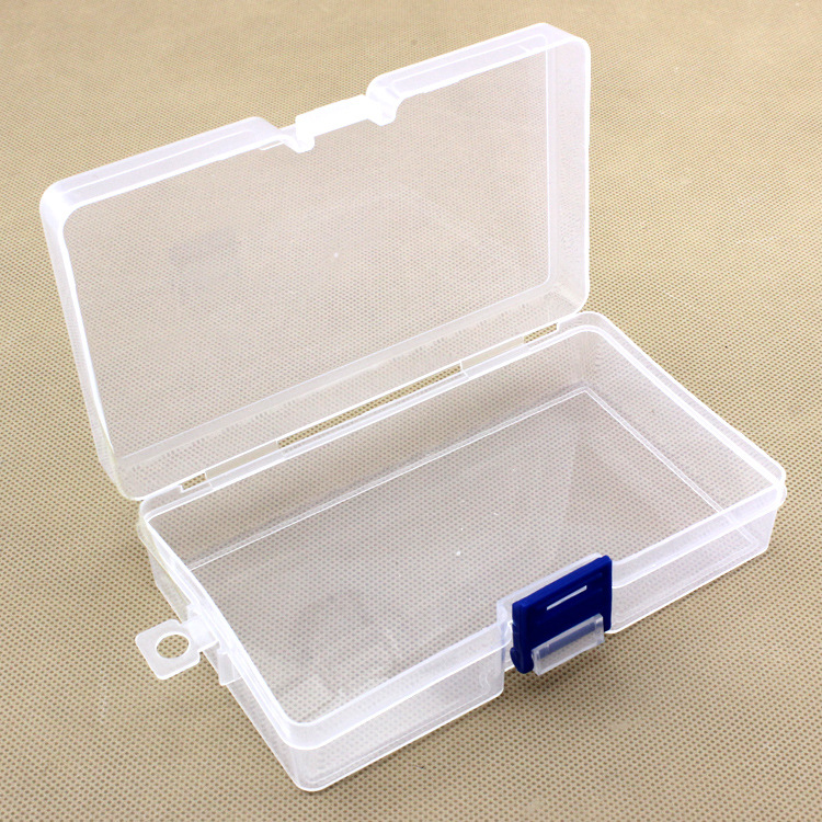 1x Mini Durable Plastic Clear Transparent With Lid Collection