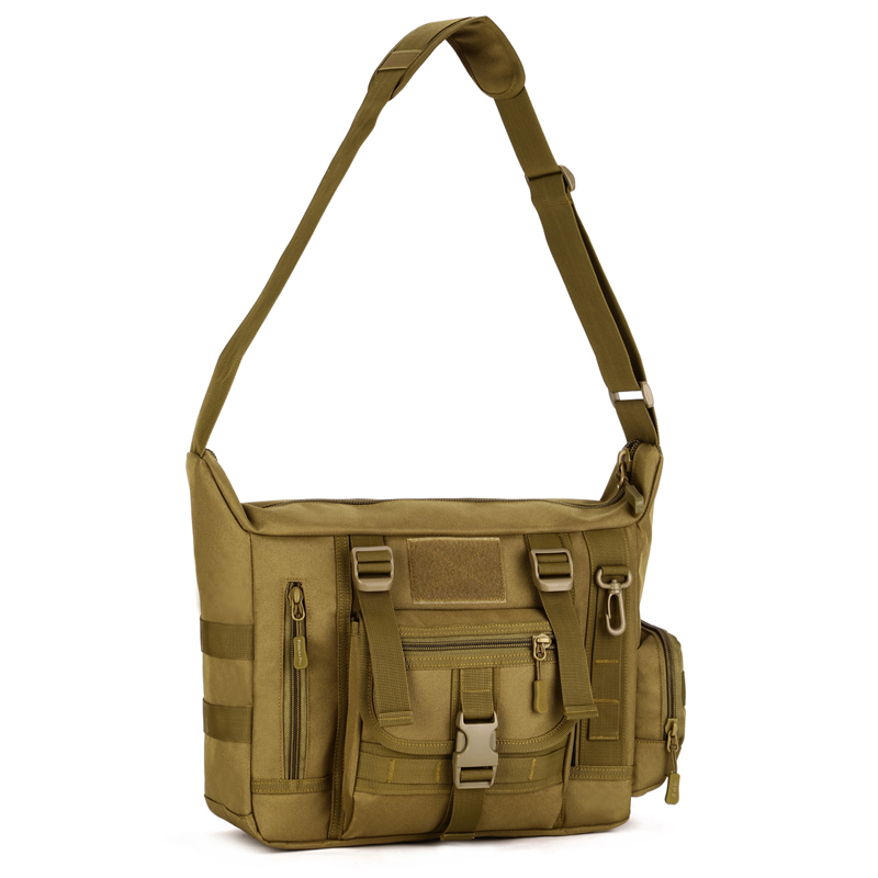 Motivated Men Large Multi-use Outdoor Tactical Messenger Bag For 14 Inch Laptop Cross-body Bag Camo Military Shoulder Bag K308 Camping & Hiking Sports & Entertainment