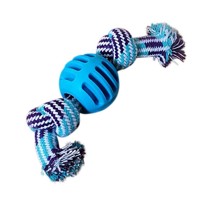 Animaux de compagnie chiens chats à mâcher jouets noeud corde os balle coton dents nettoyage jouer animaux jouets pour petits chiens chiot soulagement du Stress formation