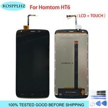 HOMTOM HT6 LCD 디스플레이 + HT 6 LCD 디스플레이 + 도구 + 접착제 용 터치 스크린 유리 디지타이저 어셈블리 교체 용 KOSPPLHZ