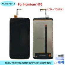 KOSPPLHZ สำหรับ HOMTOM HT6 จอแสดงผล LCD + หน้าจอสัมผัส Digitizer ASSEMBLY สำหรับ HT 6 จอแสดงผล LCD + เครื่องมือ + กาว