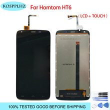 KOSPPLHZ HOMTOM HT6 LCD ekran + dokunmatik ekran cam sayısallaştırıcı meclisi değiştirme HT 6 LCD ekran + araçları + yapıştırıcı