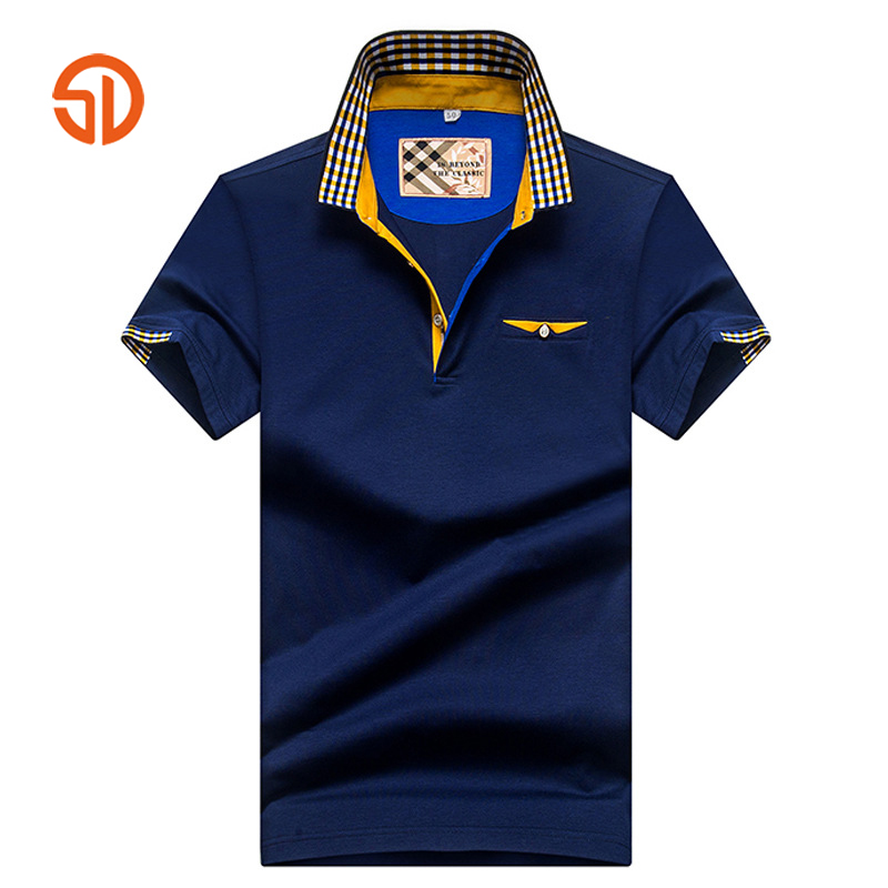 High Quality Men Polo Shirt Brand Clothing Men Polo Shirt Classic Solid Color Fake Pocket Short Sleeve Summer Breathable Top Tee navy fake pocket design short sleeve men s cotton men s polo shirt