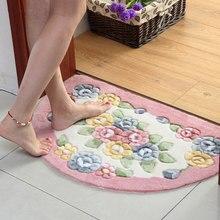 Novo clássico banheiro tapete tapete de banho, anti deslizamento tapete de banho tapetes, semicírculo quarto cozinha tapete de banheiro alfombra