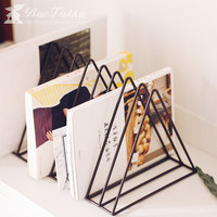 Simple metal Triangle Newspaper rack book shelf Magazine rack living room study Storage decoration