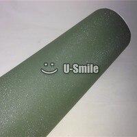 Высокое качество армейского зеленого блестящего песочного цвета Блестящий виниловая упаковка Folie Bubble Free телефон ноутбук стикер Размер: 1,52*