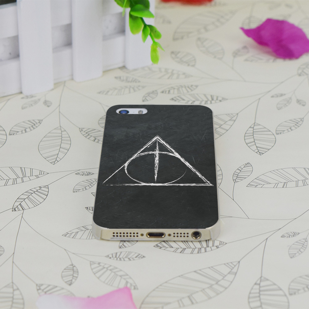 C3414 Deathly Hallows Harry P Transparent Hard Thin Case Skin Cover For Apple IPhone 4 4S 4G 5 5G 5S SE 5C 6 6S Plus