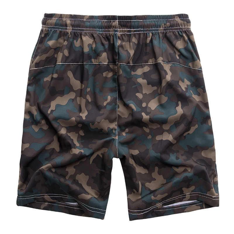 Большие размеры 8XL бордшорты камуфляжные плавки шорты мужские камуфляжные трусы плюс размер быстрый сухой купальник Мужская пляжная одежда короткая доска 9924