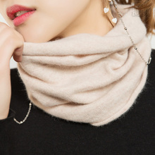 Women's Scarf Ring Wool Cashmere Neck Warmer Angora Rabbit Cashmere Cowl Collar Loop Scarves Women Knitting Accessories wb 01 fashion knitting wool collar scarf neck warmer pink