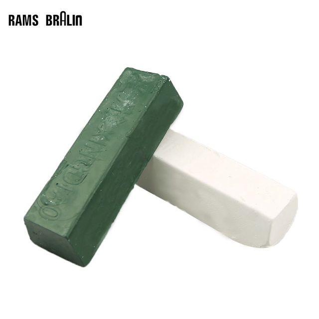 2 piece White & Green Buff Polishing Compound Metal jewelry Polishing Compound Abrasive Paste