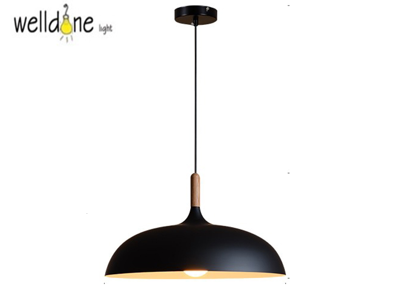 Nordic Modern Aluminum Dining Pendant Light Creative Restaurant Bedroom Home Decorative Hanging Lamp Fixture 45/60cm Black/White aluminum modern decorative pendent light fixture home pendant black metal hole pendent lamp wholesale
