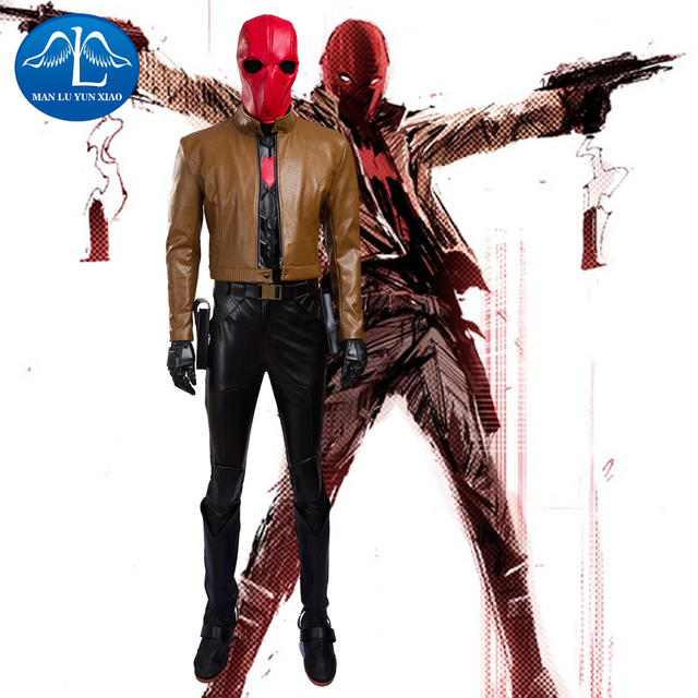 fashion batman jason todd red hood cosplay costume halloween costumes for men
