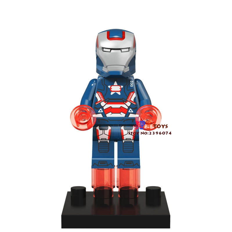 Single Sale star wars superhero marvel Iron Patriot Man building blocks model bricks toys for children brinquedos menino