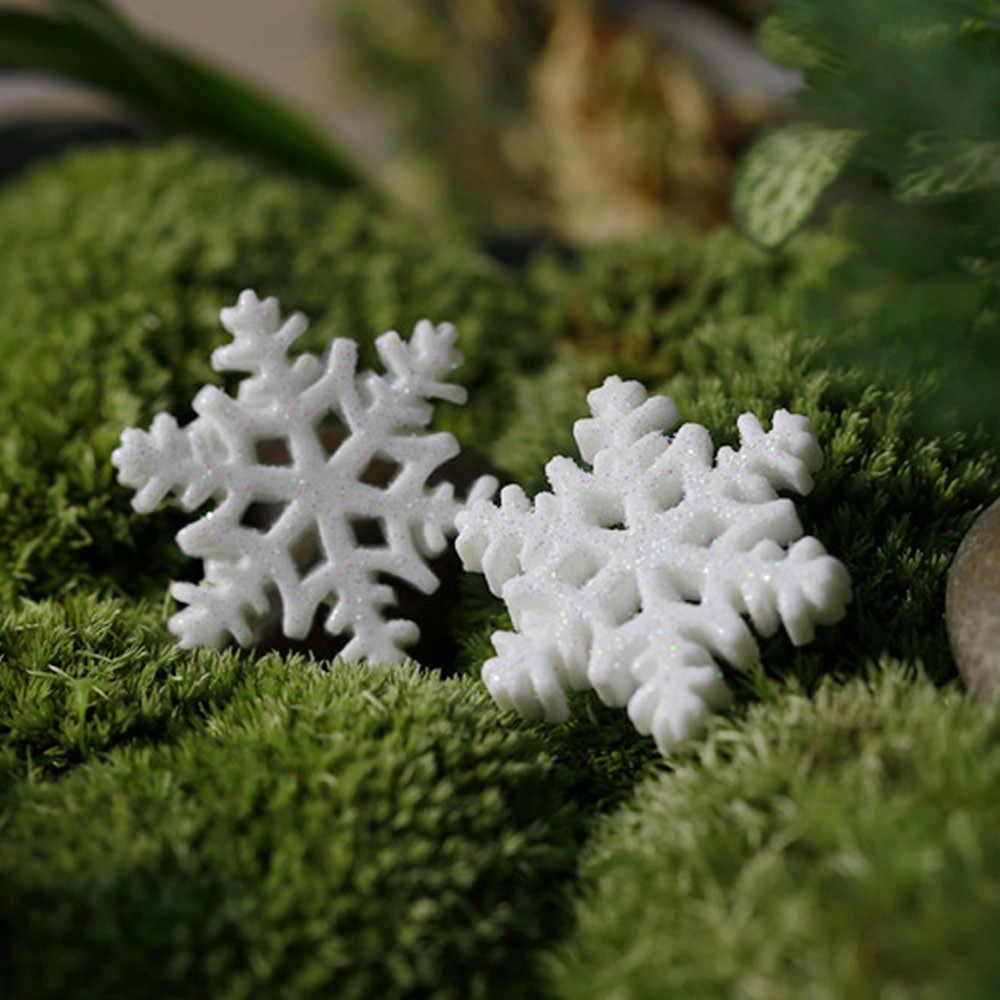 10Pcs Xmas Classic Charming White Snowflake Party Holiday Christmas Ornaments Home Decor Hot sales 2019#15