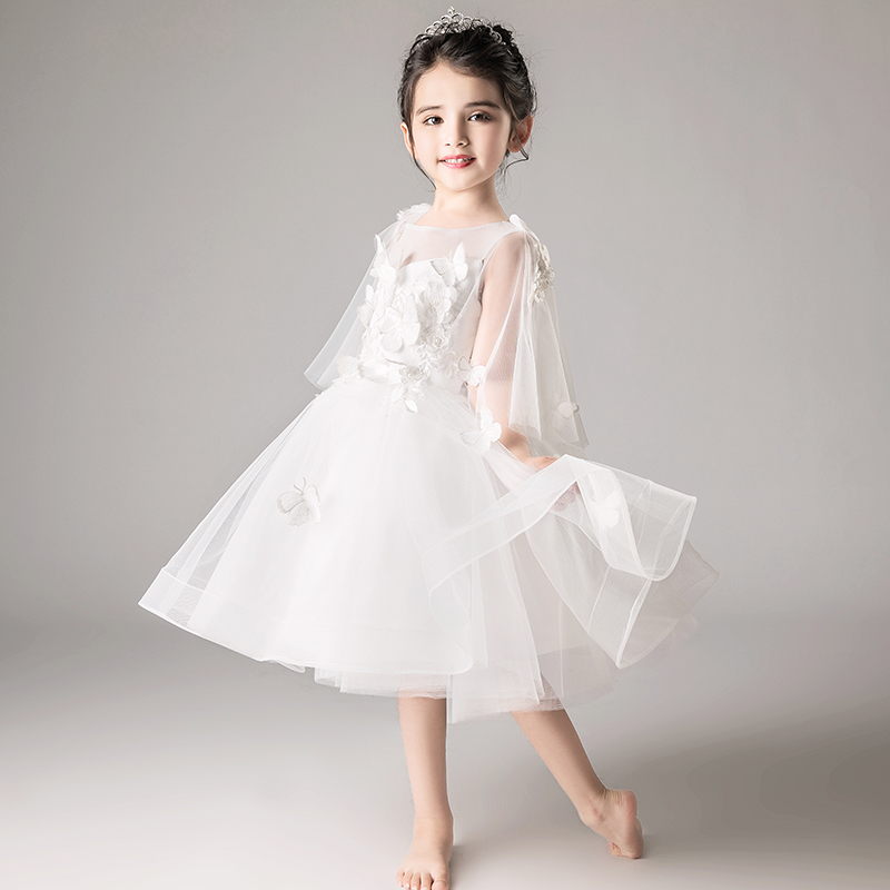 2018 winter elegant kids girls dresses stripe tutu dress wedding pageant outfits princess party dress girls clothes