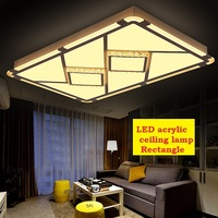 GRB rectangular and square iron acrylic LED crystal dimming Ceiling lights living room bedroom study Ceiling lamps