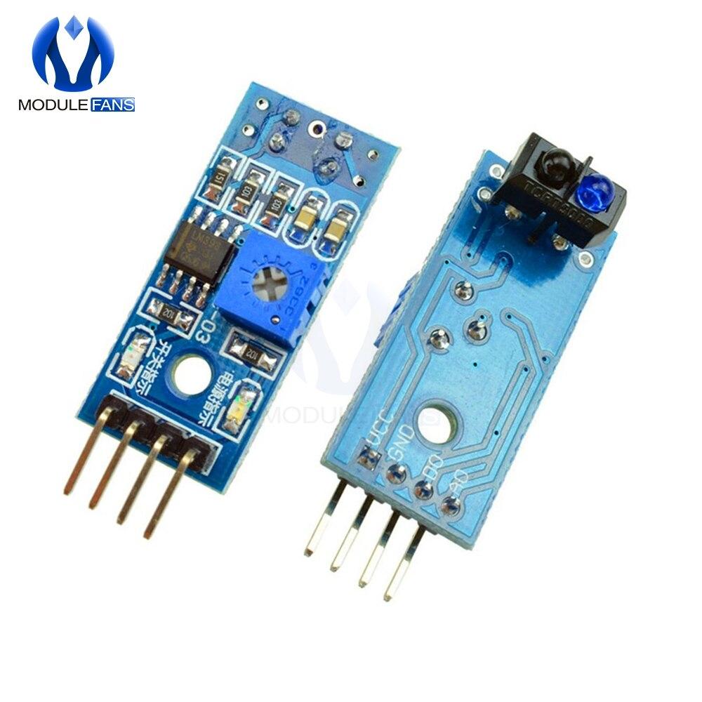 10 pces tcrt5000 infravermelho sensor reflexivo ir interruptor fotoelétrico barreira linha módulo trilha para arduino diode triode placa 3.3v