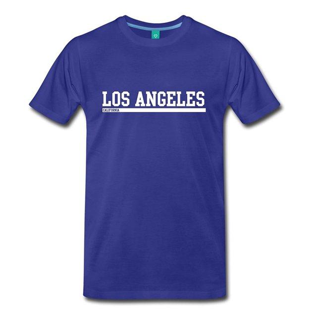 d2f6d9b7c504 Los Angeles California Cool Lettering Men s Premium T-Shirt Men S T-Shirts  Summer Style Fashion Swag Men T Shirts Summer O-Neck
