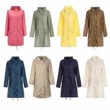 Freesmily Women's Stylish Raincoat Waterproof Rain Poncho with Hood and Pockets