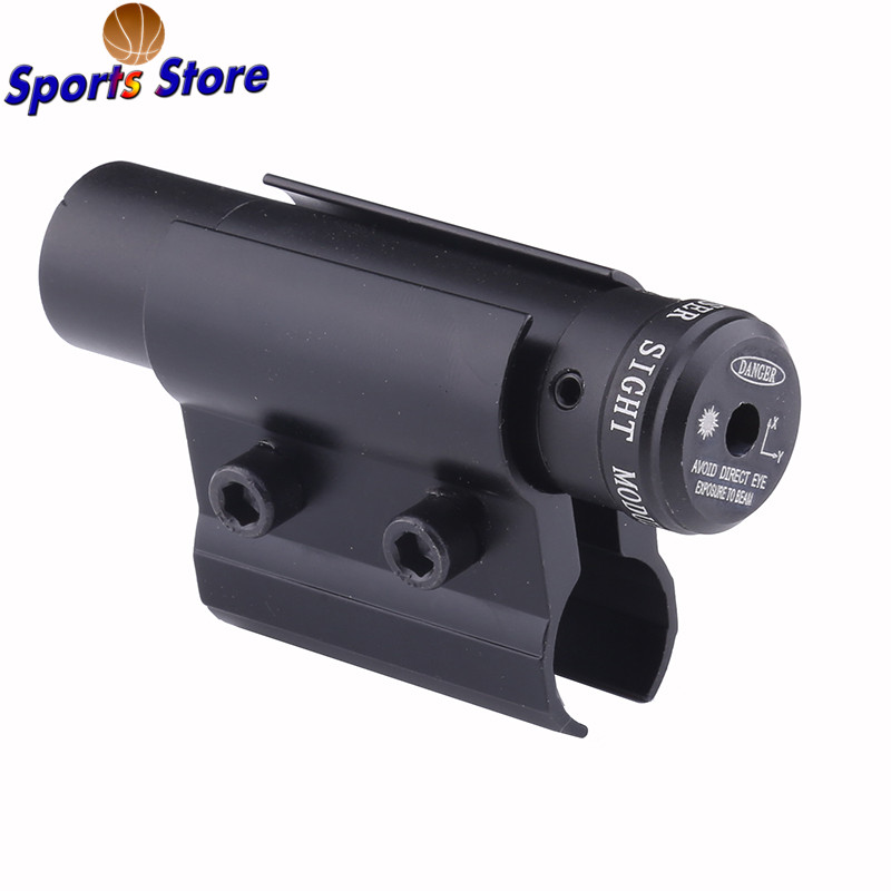 Outdoor Tactical Red Dot Laser Sight Scope With Mount For Pistol Picatinny Rail and Rifle For Airsoft Hunting Shooting