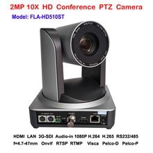 Cámara PTZ 2MP 10x Zoom 3G SDI IP HDMI tres salidas de vídeo simultáneas para transmisión de vídeo IP RTMP en vivo